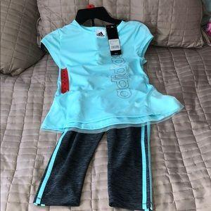 Girls size 6 Adidas 2 piece Capri set